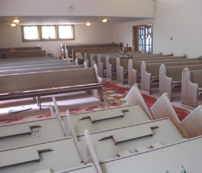 Vandalism at a Church Before